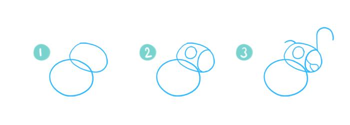 How To Draw A Cartoon Cockatoo Steps 1 - 3