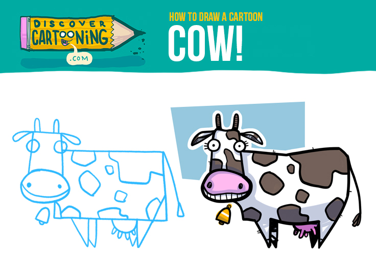 How to Draw A Cartoon Cow Top
