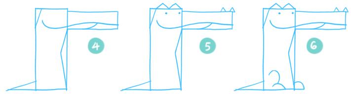 How To Draw A Cartoon Crocodile Step 04 - 06