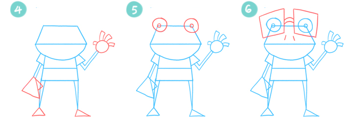 How To Draw A Cartoon Frog Steps 4 - 6