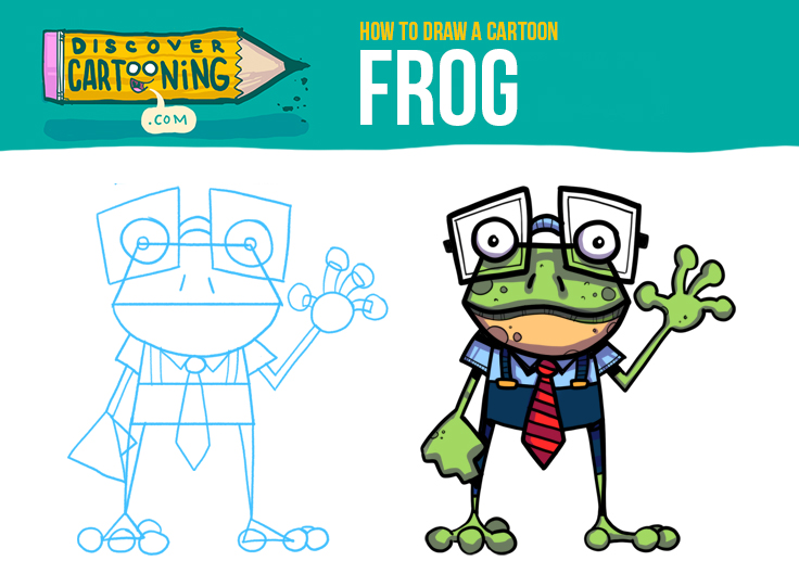 How To Draw A Cartoon Frog Top