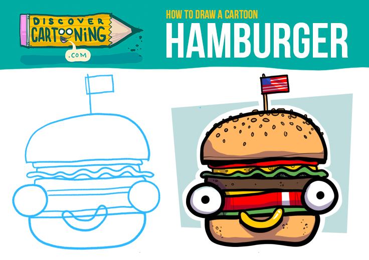 How To Draw A Cartoon Hamburger Top