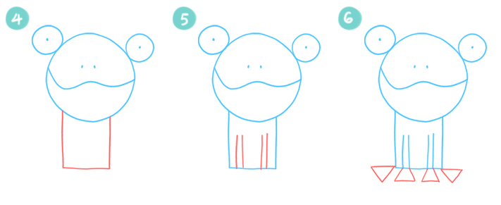 How To Draw A Simple Cartoon Frog Steps 4 - 6