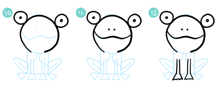 How To Draw A Simple Cartoon Frog Steps 10 - 12