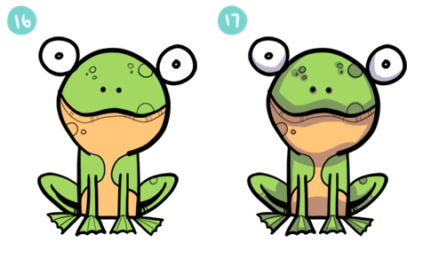How To Draw A Simple Cartoon Frog Steps 16 - 17