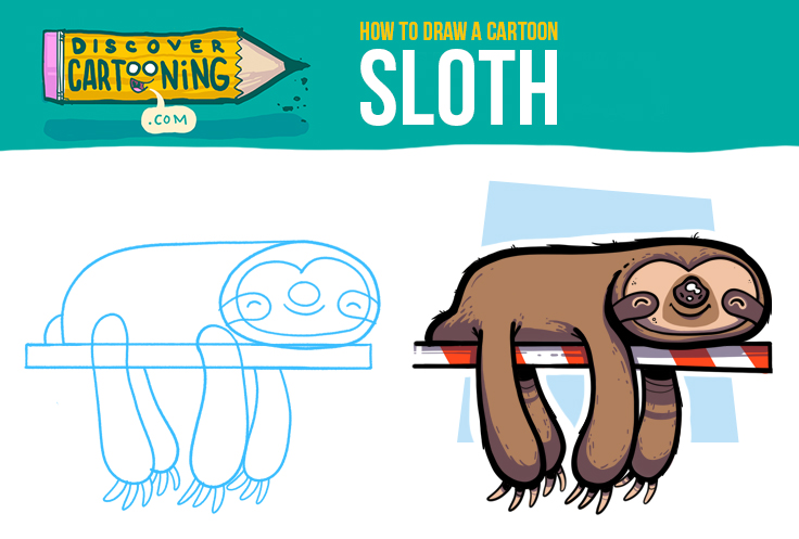 How To Draw A Cartoon Sloth Top