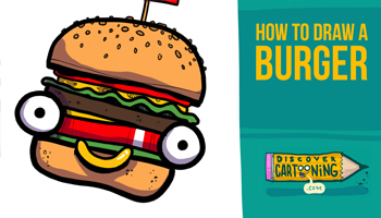 How To Draw A Cartoon Hamburger Thumb