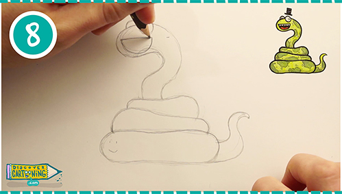 How To Draw A Cartoon Snake In 21 Easy Steps Discover Cartooning